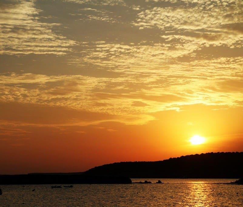 coucher de soleil menorca