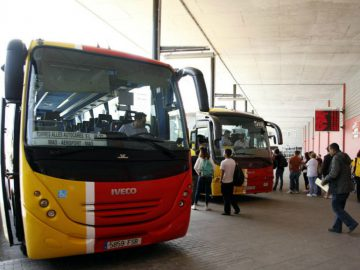 Station de bus minorque