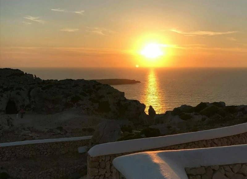 Coucher soleil au phare de Cavalleria