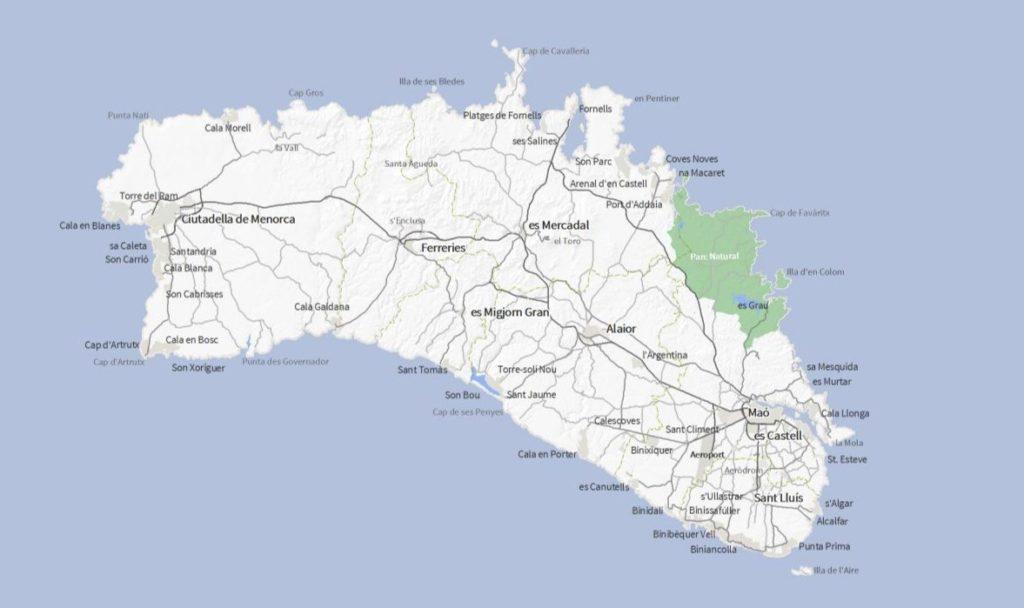 carte Minorque