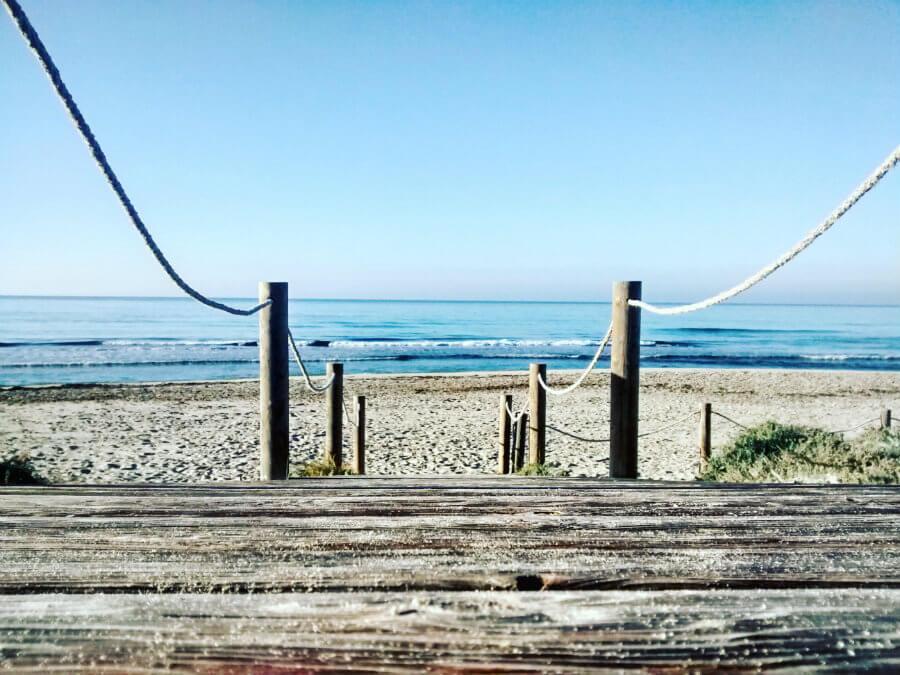 La plage de Son Bou à Minorque.