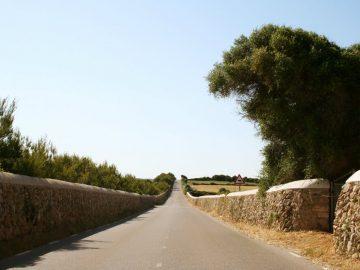 cami en kane , l'ancienne route qui reliée Mahon à Ciutadella