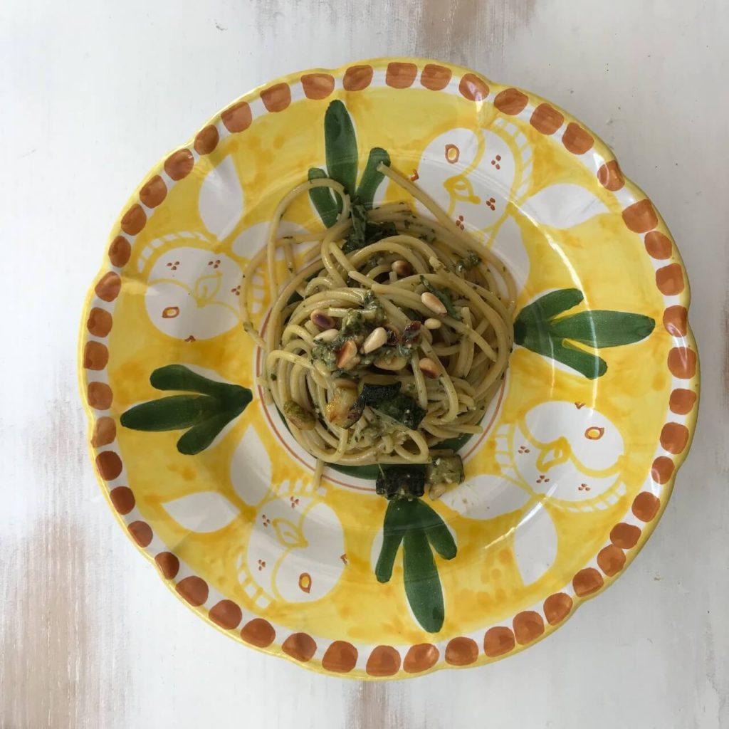 Pasta Al Pesto Con Zucchini Courgette 1